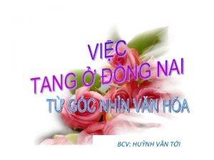 BCV HUNH VN TI NH GI Thc hin