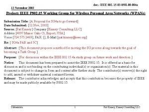 doc IEEE 802 15 03 0501 00 004