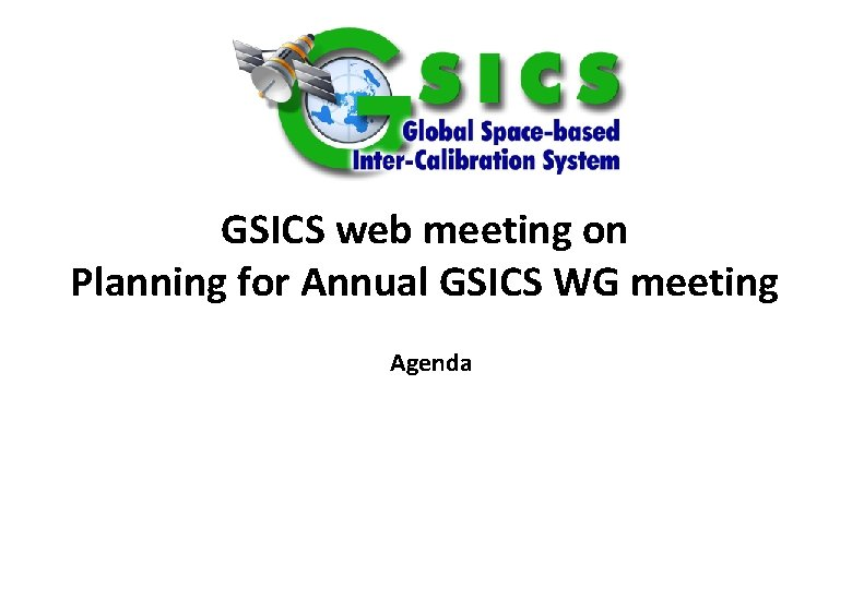 GSICS web meeting on Planning for Annual GSICS
