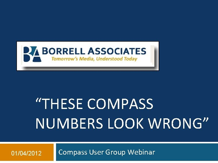 THESE COMPASS NUMBERS LOOK WRONG 01042012 Compass User