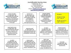 Geschftsstelle MnchenRiem Landshamer Str 11 81929 Mnchen Tel