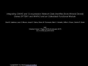 Integrating GWAS and Coexpression Network Data Identifies Bone