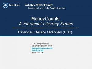 Money Counts A Financial Literacy Series Financial Literacy