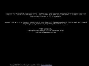 Society for Assisted Reproductive Technology and assisted reproductive