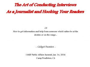The Art of Conducting Interviews As a Journalist