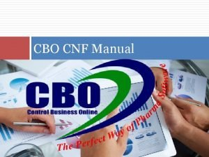 CBO CNF Manual About CBO extensive information of