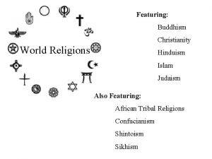 Featuring Buddhism Christianity World Religions Hinduism Islam Judaism