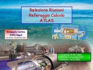 Relezione Riunioni Referaggio Calcolo ATLAS Gianpaolo Carlino INFN