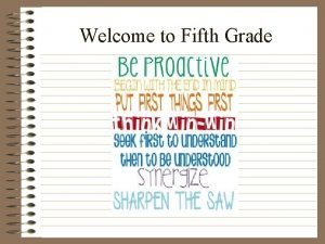 Welcome to Fifth Grade Mathematics Graphing Place Value