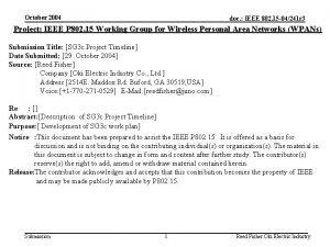 October 2004 doc IEEE 802 15 04241 r