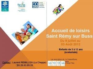 Accueil de loisirs Saint Rmy sur Bussy Du