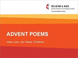 ADVENT POEMS Hope Love Joy Peace Christmas HOPE