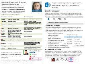 Akceptowanie zaproszenia do wymiany wiadomoci byskawicznych Podrczna karta