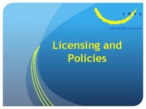 Licensing and Policies About Child Care Licensing and