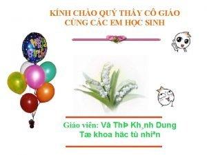 KNH CHO QU THY C GIO CNG CC