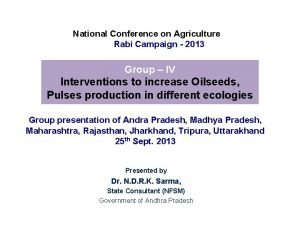 National Conference on Agriculture Rabi Campaign 2013 Group
