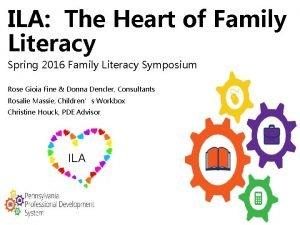 ILA The Heart of Family Literacy Spring 2016