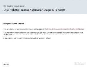 IBM Cloud Architecture Center DBA Robotic Process Automation