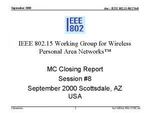 September 2000 doc IEEE 802 15 00276 r