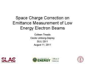 Space Charge Correction on Emittance Measurement of Low