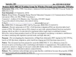 September 2003 doc IEEE 802 15 03383 r