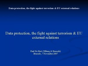 Data protection the fight against terrorism EU external