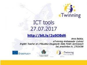 ICT tools 27 07 2017 http bit ly2