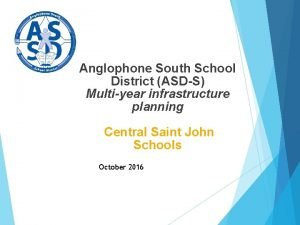 Anglophone South School District ASDS Multiyear infrastructure planning