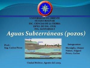 UNIVERSIDAD DE ORIENTE NCLEO BOLVAR ESC CIENCIAS DE
