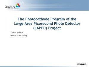 The Photocathode Program of the Large Area Picosecond