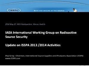 2014 May 27 IAEA Headquarters Vienna Austria IAEA