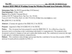 May 2018 doc IEEE 802 15 18 0183