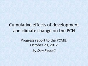 Cumulative effects of development and climate change on