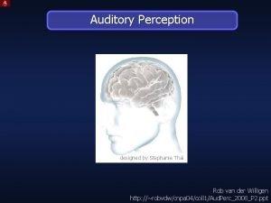 Auditory Perception designed by Stephanie Thi Rob van