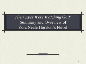 Their Eyes Were Watching God Summary and Overview