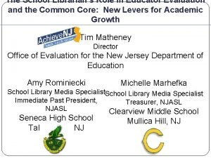 The School Librarians Role in Educator Evaluation and