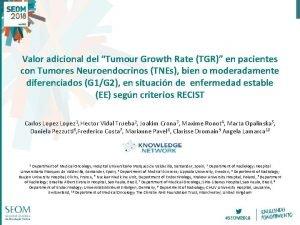 Valor adicional del Tumour Growth Rate TGR en