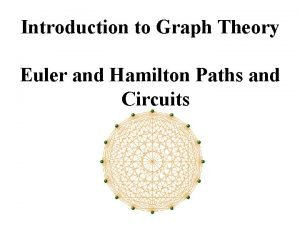Introduction to Graph Theory Euler and Hamilton Paths