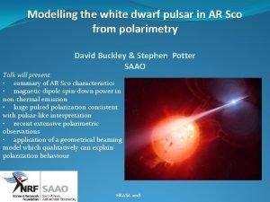 Modelling the white dwarf pulsar in AR Sco