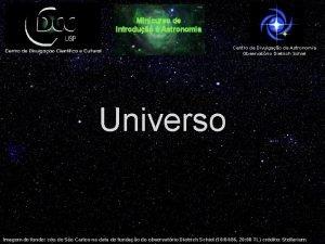 Minicurso de Introduo Astronomia Centro de Divulgao da