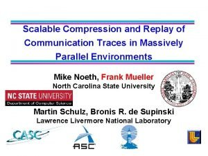 Scalable Compression and Replay of Communication Traces in