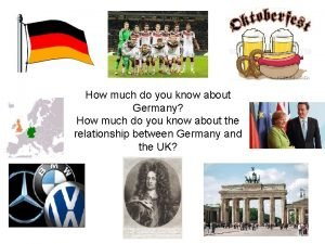 How much do you know about Germany How