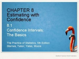 CHAPTER 8 Estimating with Confidence 8 1 Confidence