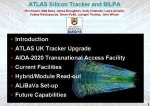 ATLAS Silicon Tracker and BILPA Phil Allport Matt