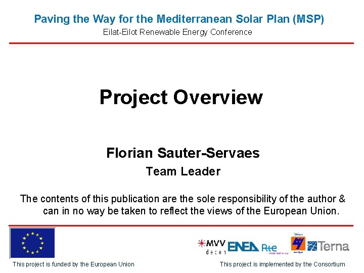 Paving the Way for the Mediterranean Solar Plan