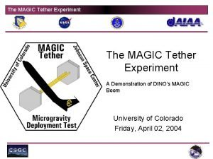 The MAGIC Tether Experiment A Demonstration of DINOs
