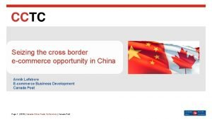 Seizing the cross border ecommerce opportunity in China