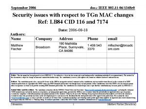 September 2006 doc IEEE 802 11 061348 r