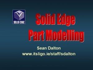 Sean Dalton www itsligo iestaffsdalton Features Toolbar l