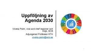Uppfljning av Agenda 2030 Viveka Palm vice avd